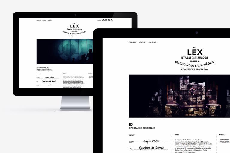 Site internet, Studio LEX, Montréal
