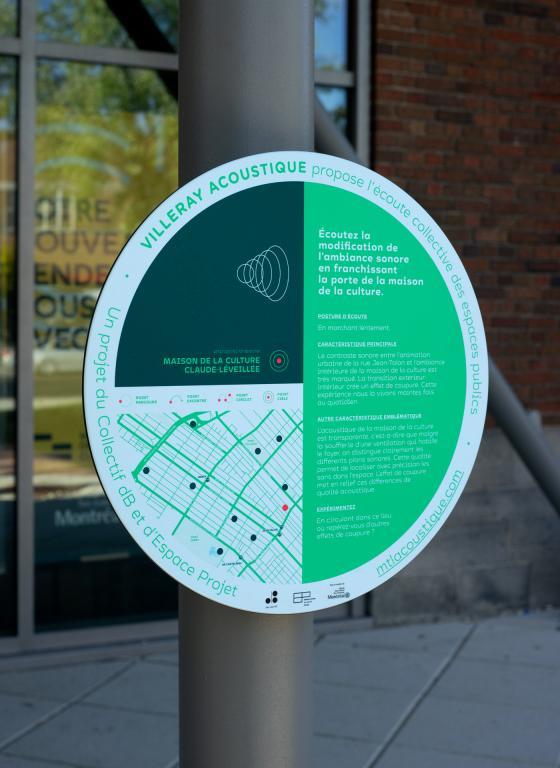 Signalétique et identité, Villeray Acoustique, Montréal, 2019