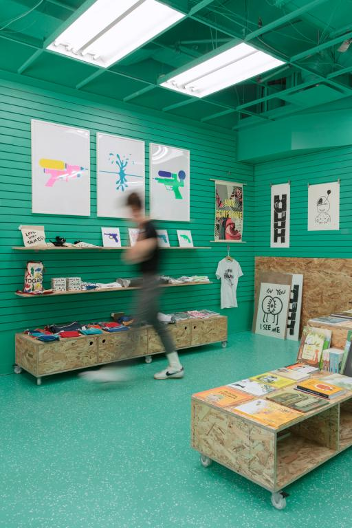Aménagement et mobilier, boutique éphémère de l'UQÀM, Montréal, 2019