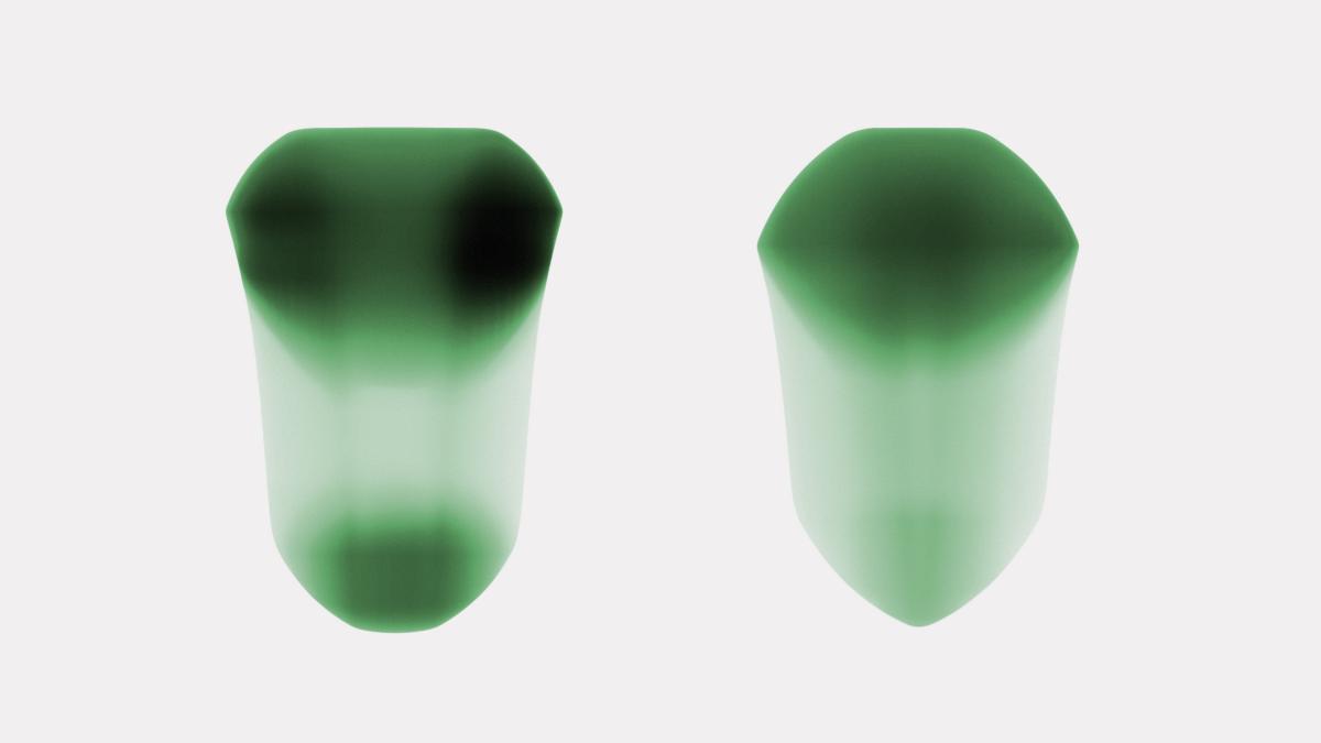 Esquisse / Croquis emblème du projet / Variation en densité de la couleur par la superposition et épaisseur de la matière.