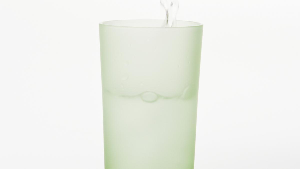 Caractéristique du «Verre commun» : la transparence du verre au contact de l'eau
