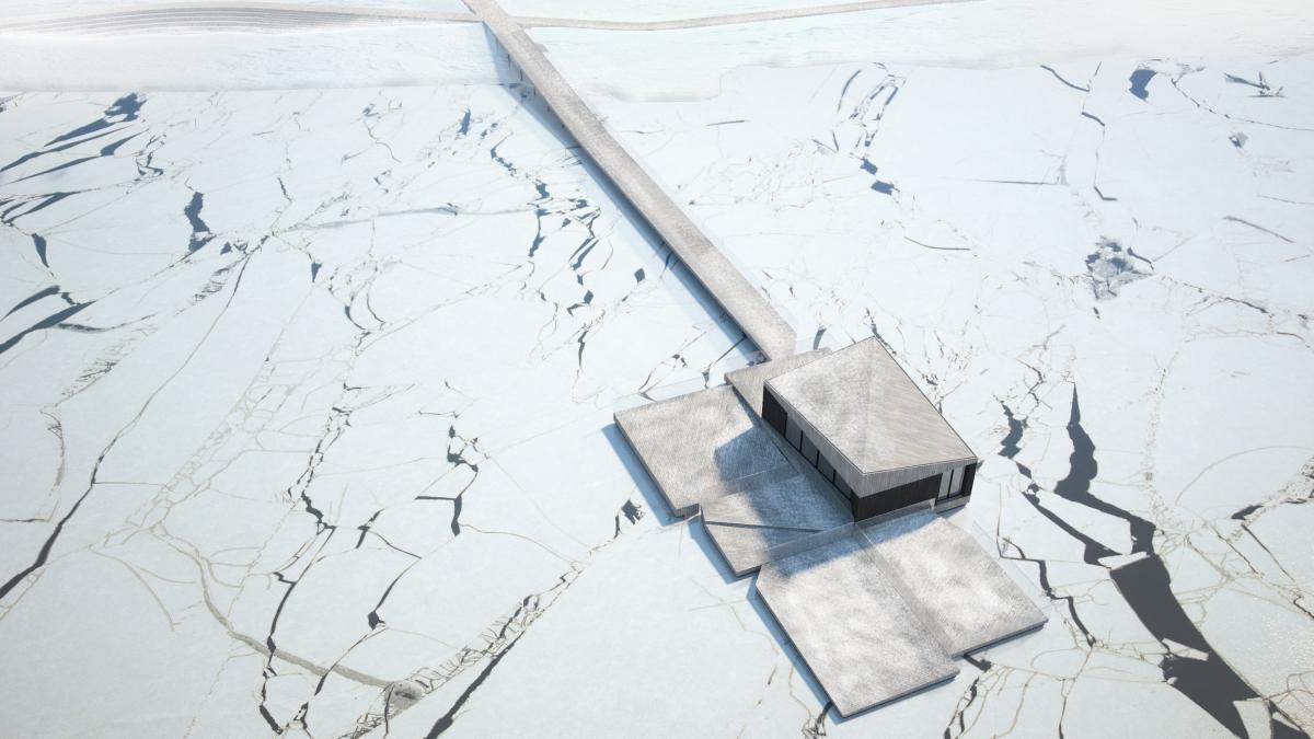 Finalist project - architecture competition for the Plage de l'Est