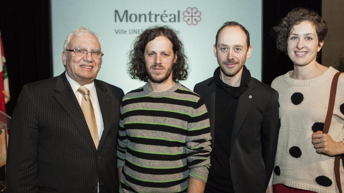 Cérémonie officielle de remise de la bourse Phyllis-Lambert Design Montréal, 9 décembre 2013.