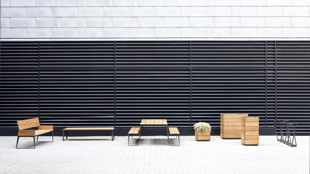 Dimanche, collection de mobilier urbain pour Équiparc (2012)