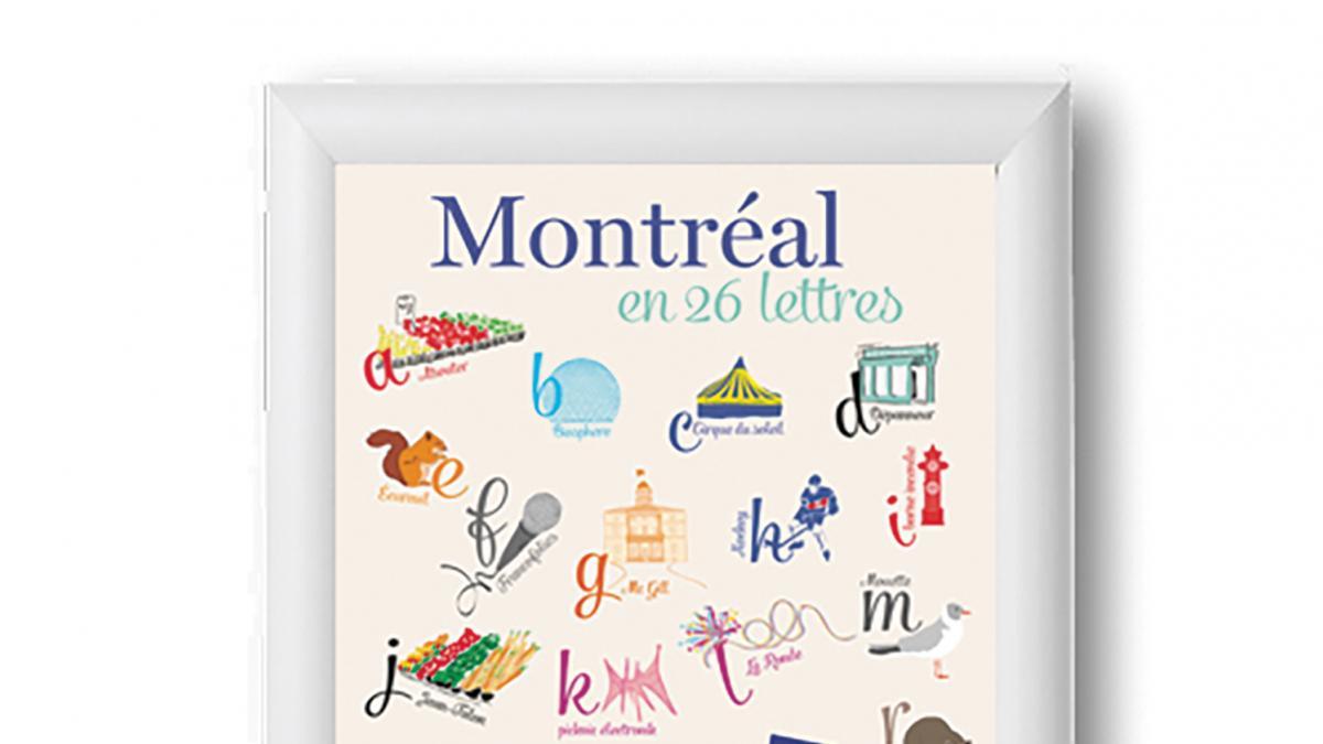 Affiche Montréal en 26 lettres