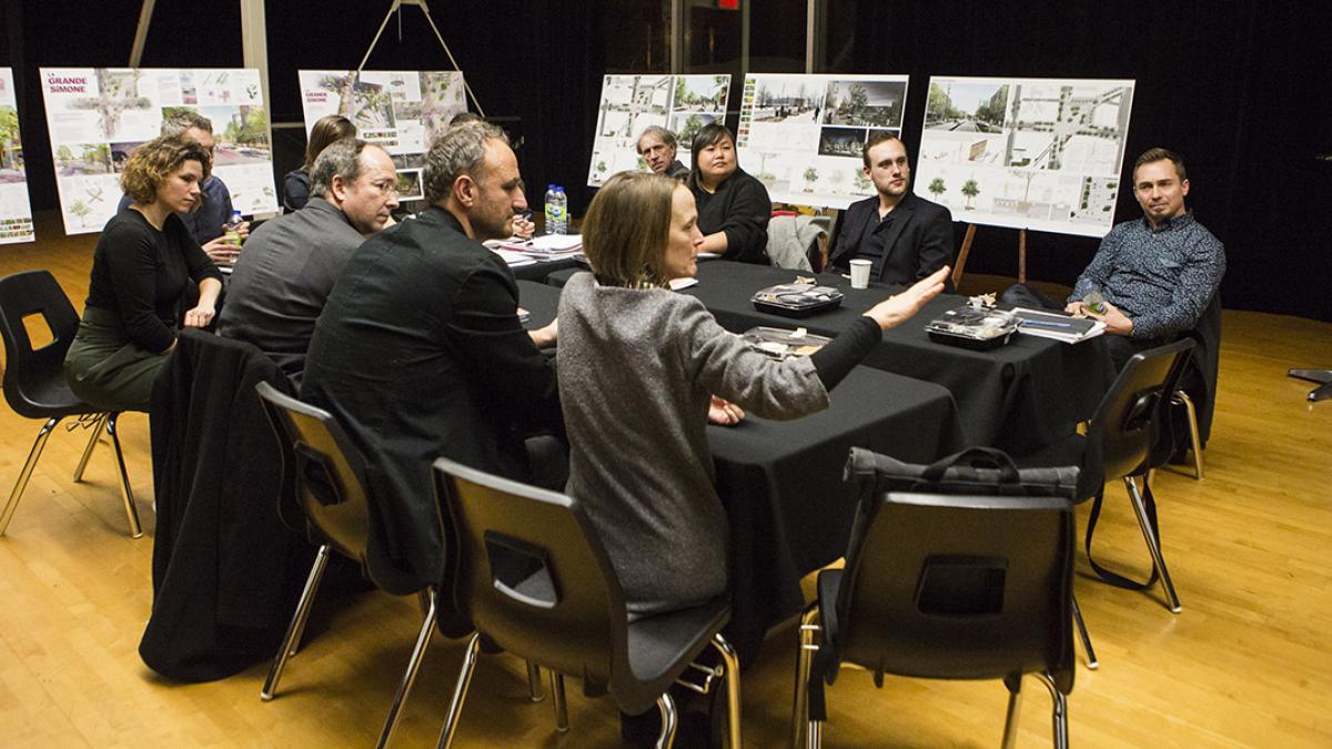 Délibérations des membres du jury concours de design pluridisciplinaire pour l'aménagement de la Zone de rencontre Simon-Valois, 2018