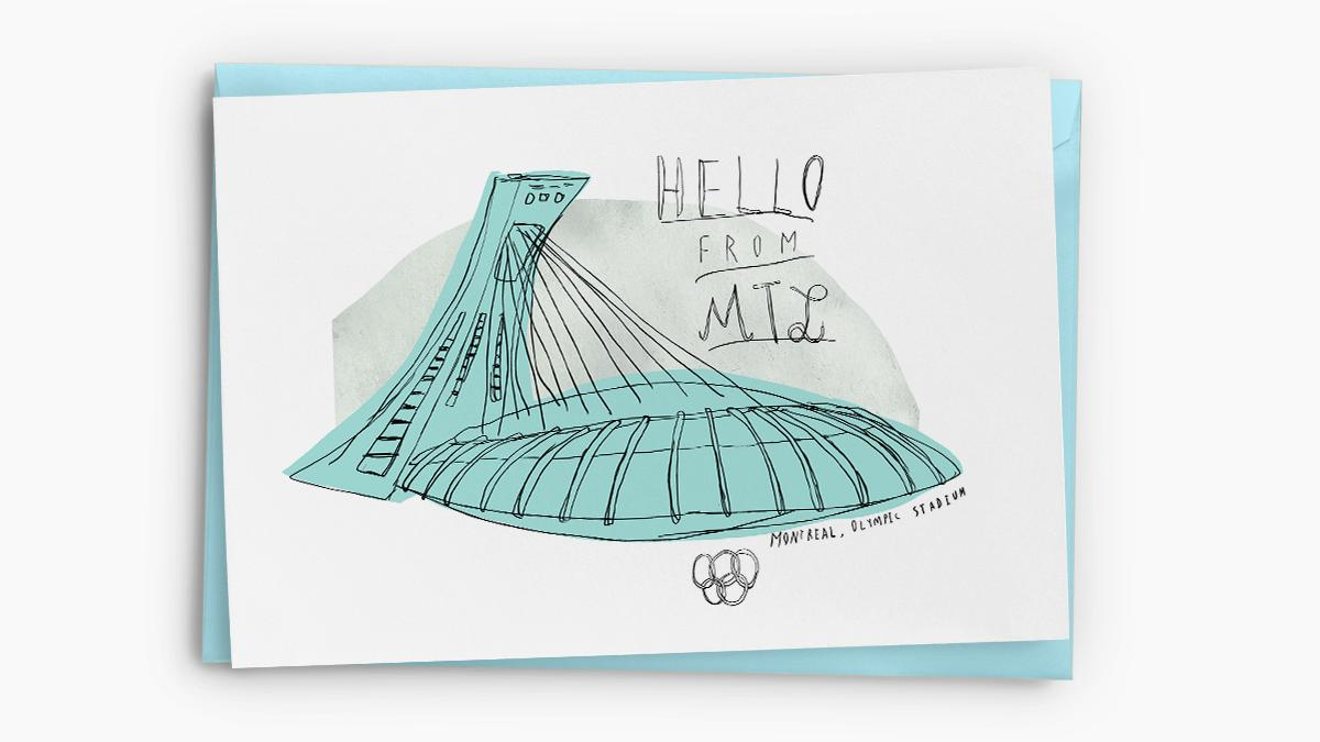 Souvenir de Montréal — Greeting Cards (Stadium)