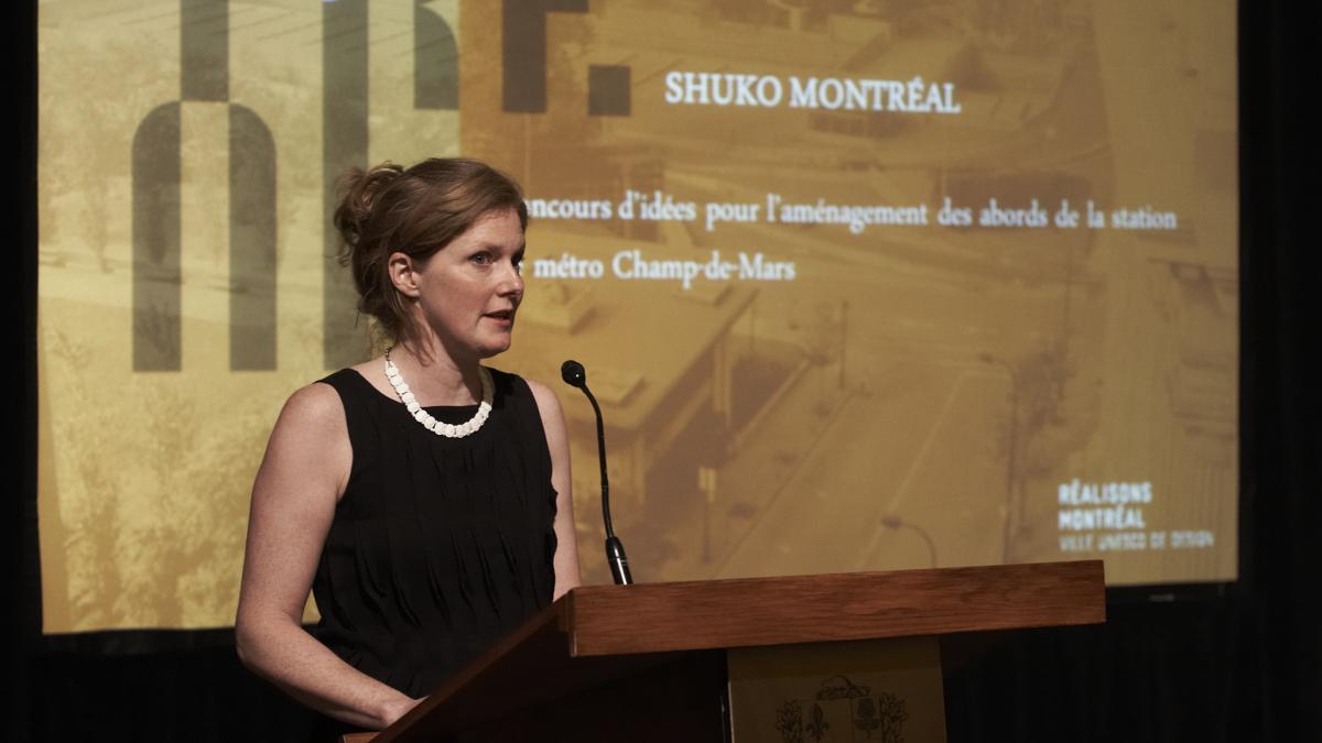 Caroline Dubuc, responsable du concours, bureau Design Montréal