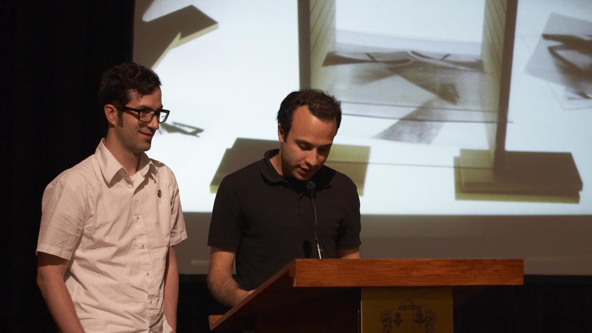 Danny Aubin et Vincent Carrière-Marleau (lauréats étudiants)