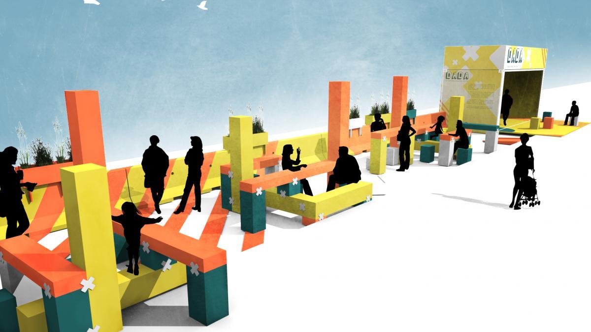 Concept de terrasse urbaine libre au public (T.U.LI.P), rue Peel