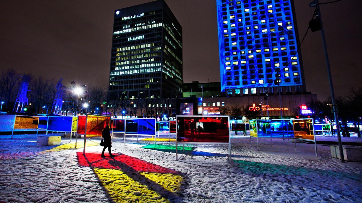 Créer l'hiver au Quartier des spectacles – Place Émilie-Gamelin