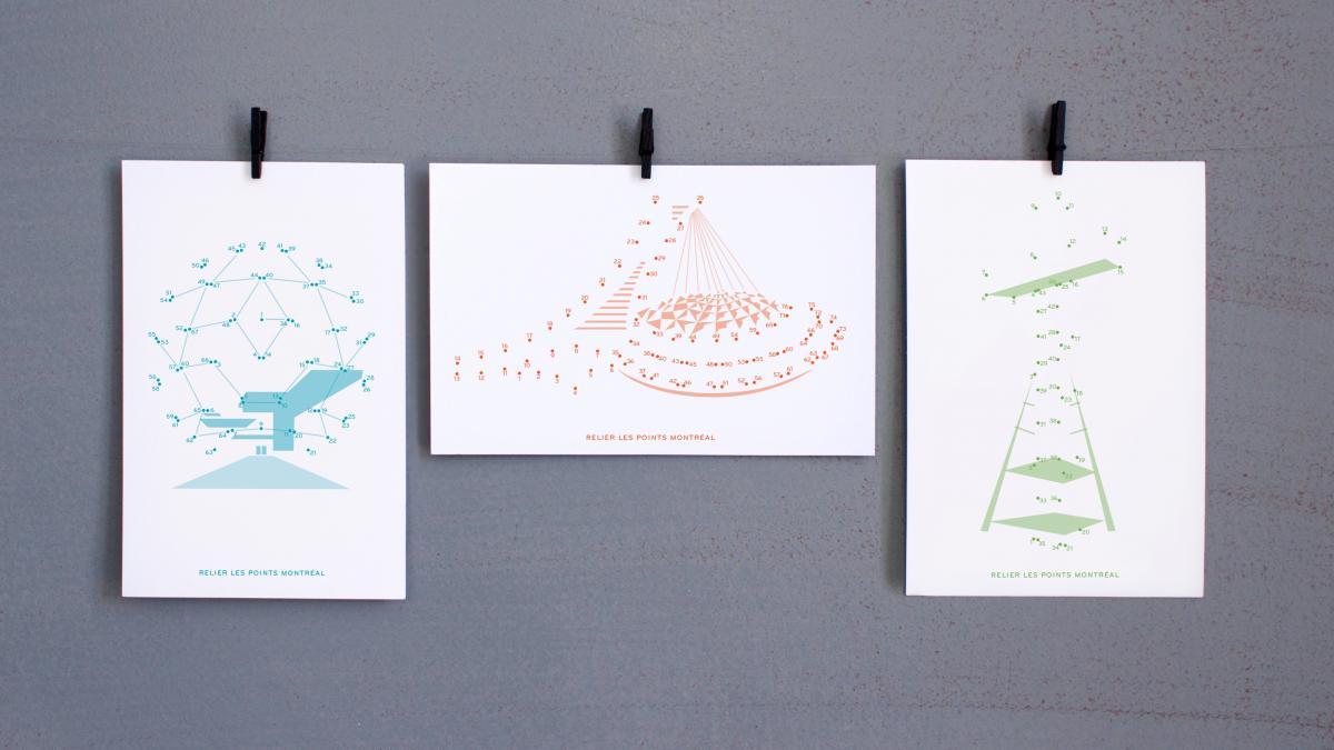 Cartes postales — Relier les points
