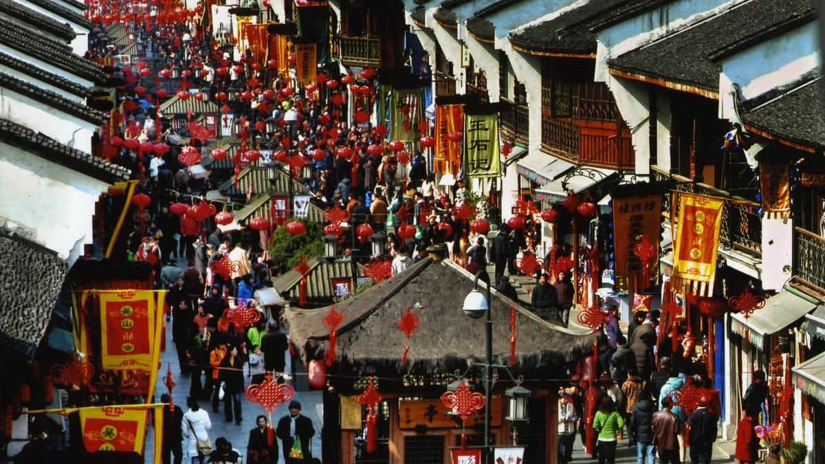 Hefang Street; Hangzhou, Chine - Ville d'artisanats et arts populaires