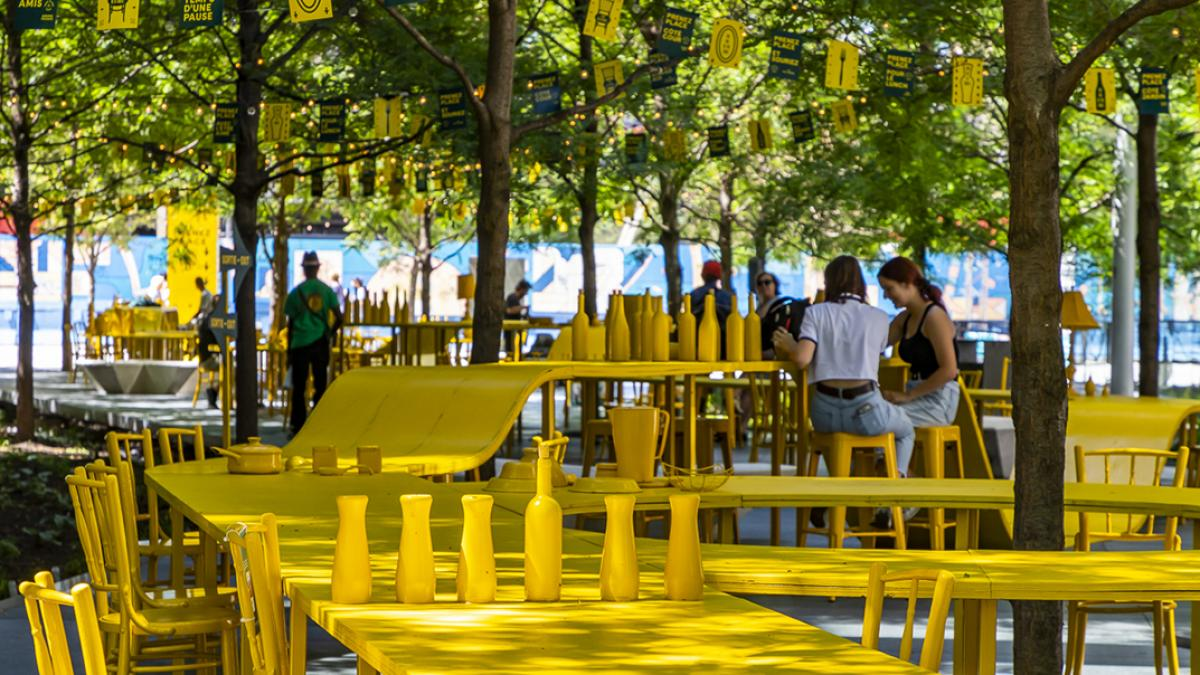 TULIP « Prenez place! » par ADHOC architectes et Maude Prince-Lescarbeau