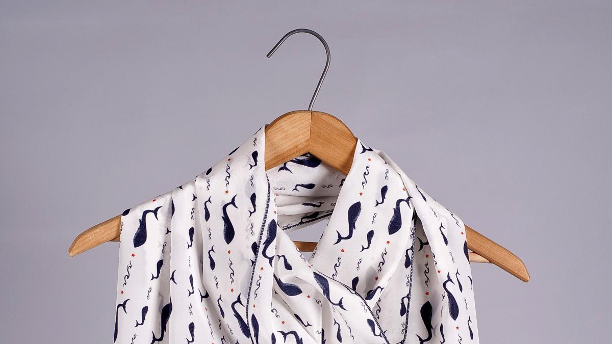 Foulards de soie Magtogoek — Blanc