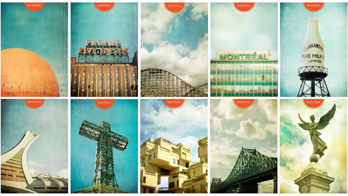 Cartes postales individuelles, Monumentalove