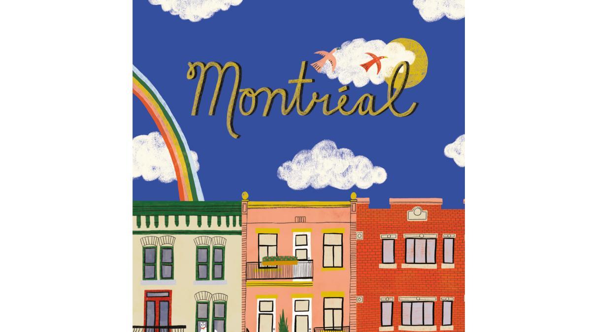 Carte postale, carte de souhaits et affichette — Images de Montréal (Montréal Triplex)