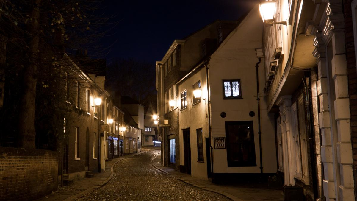The historic Elm Hill; Norwich, England - City of Literature