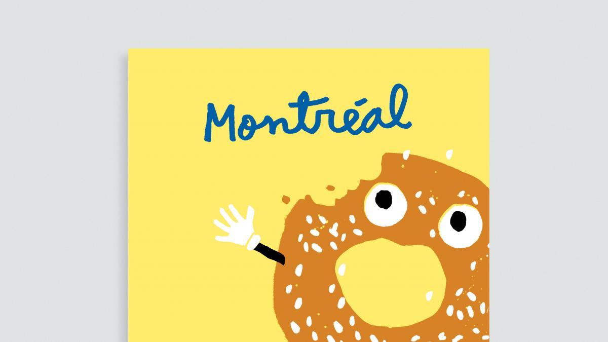 Carte Bagel de Montréal, Paperole (Illustrateur: Francis Léveillée)