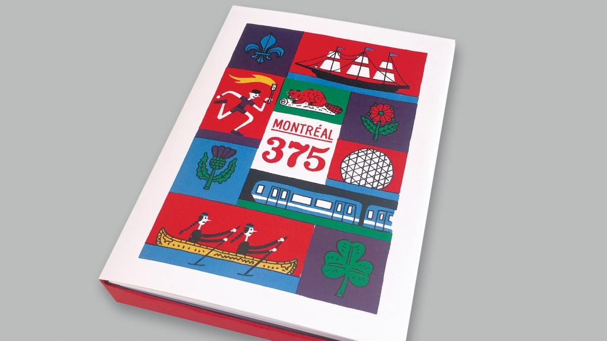 Boitier de cartes Montréal 375 ans