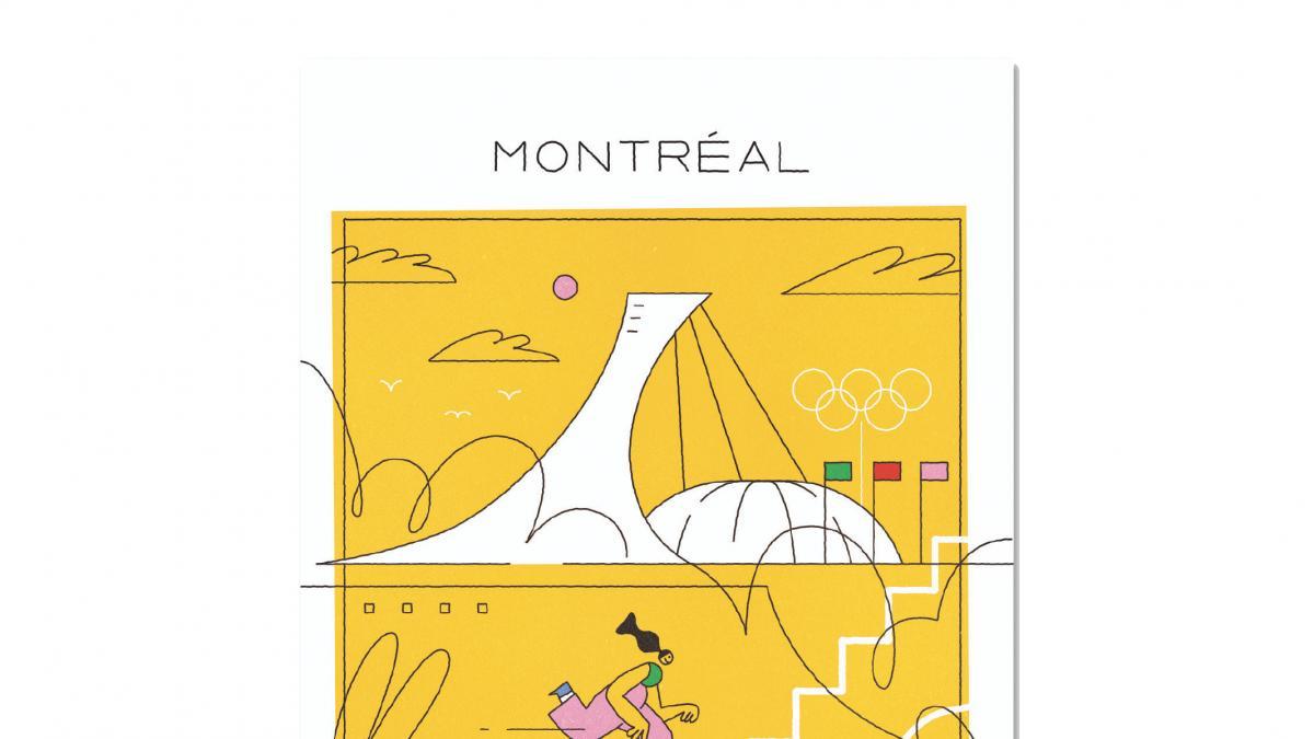 Carte postale — Collection Espace pour la vie (Stade olympique)