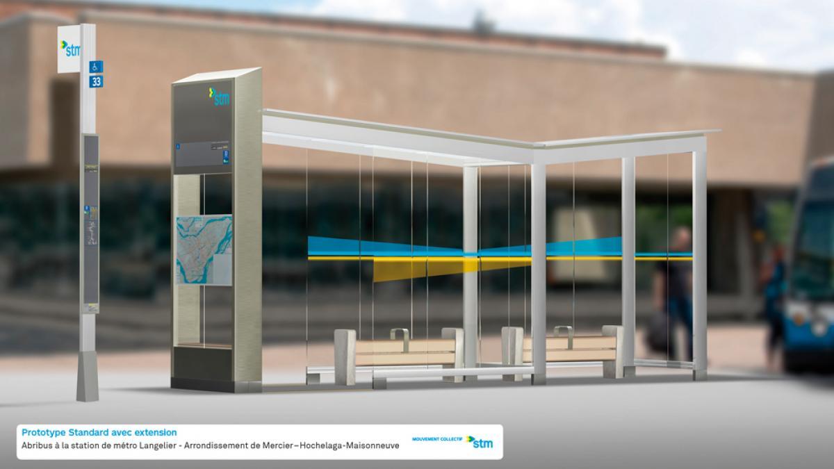 Prototype Standard avec extension : station de métro Langelier
