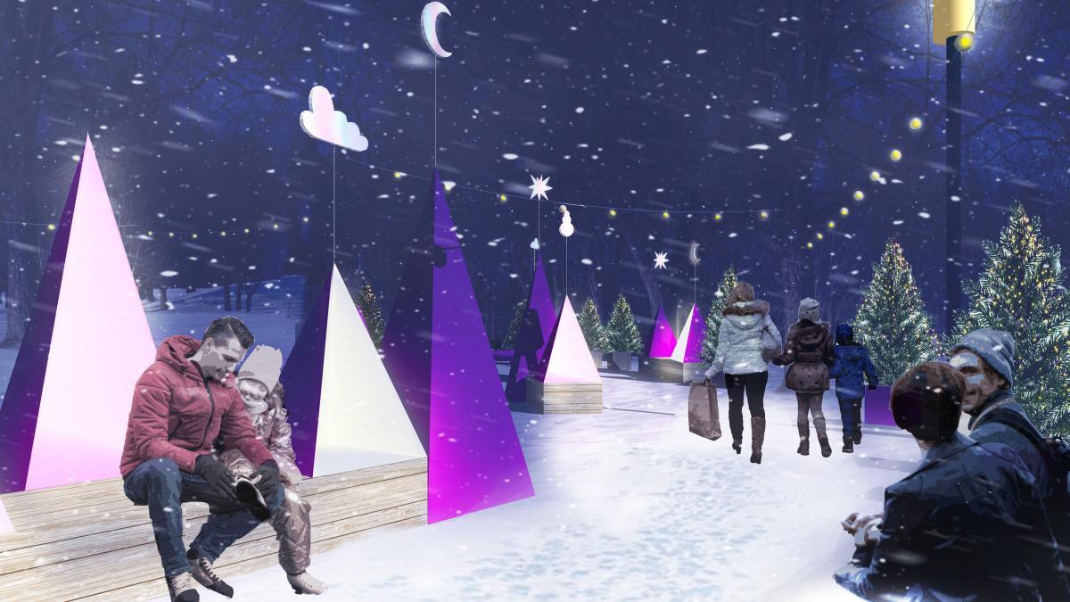 Station hivernale Voir l'hiver en rose, arrondissement Saint-Léonard