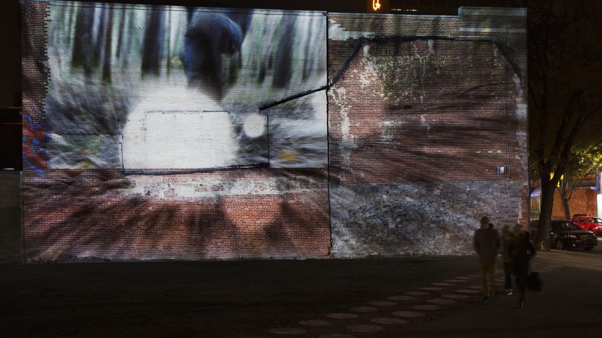Créer l'hiver au Quartier des spectacles – Vidéoprojection
