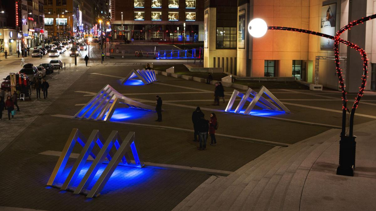 Créer l'hiver au Quartier des spectacles – Place des festivals