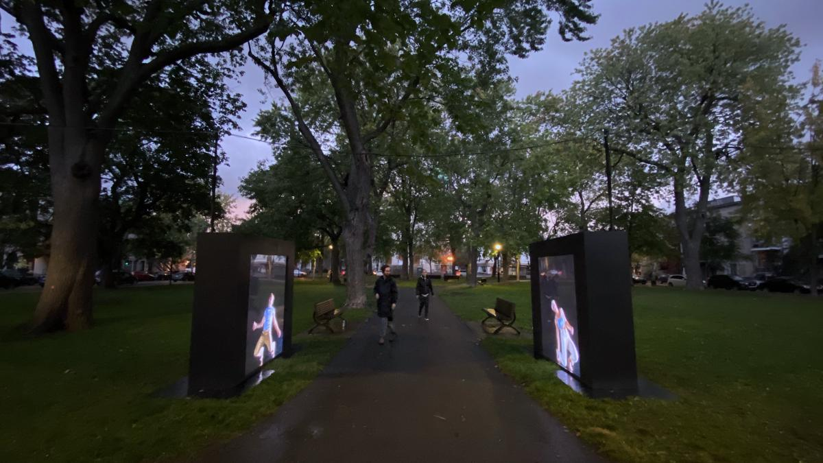 Conception d'une installation multimédia, DUO, Virginie Brunelle, Montréal, 2020