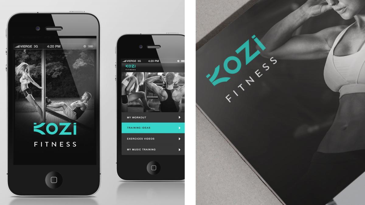 Branding, Kozi Fitness, Montreal, 2014
