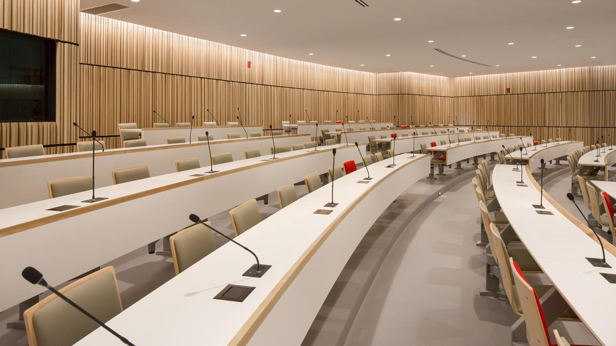 Auditorium of the Research Institute of the MUHC, Montreal, 2015