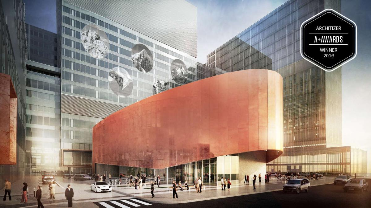 Le Nouveau CHUM, Montréal, Phase 1 (2016) Phase 2 (2020)