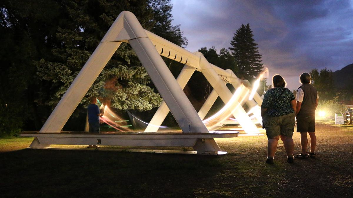 The Swings interactive installation, 2014