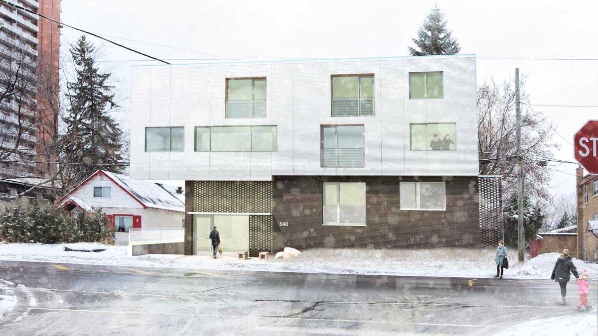 Apartment building, Ottawa, Ontario, 2015