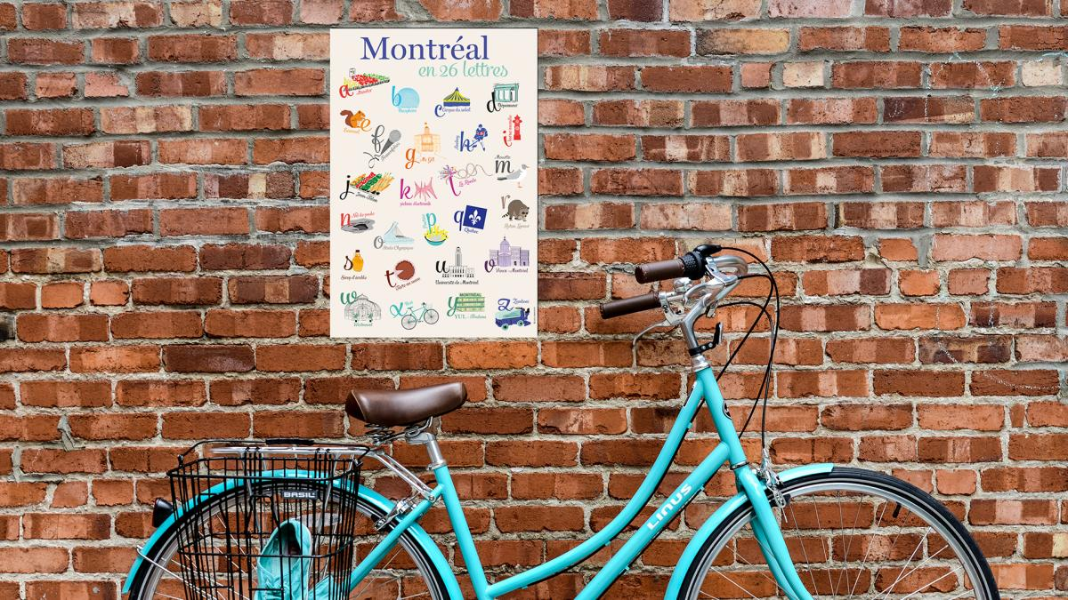 Montreal poster in 26 letters, 2016