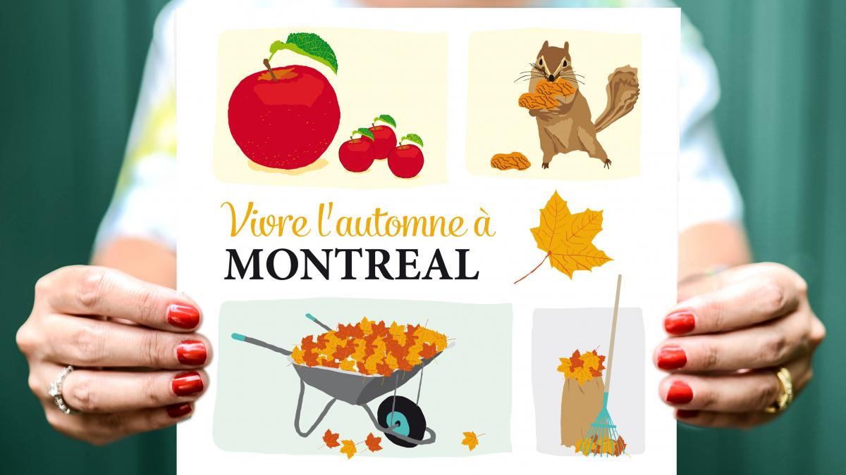 Affiche Vivre l'automne à Montréal, Lili Graffiti