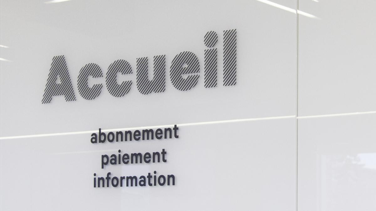 Interior signage for the Saul-Bellow library, Lachine, 2015e, 2015