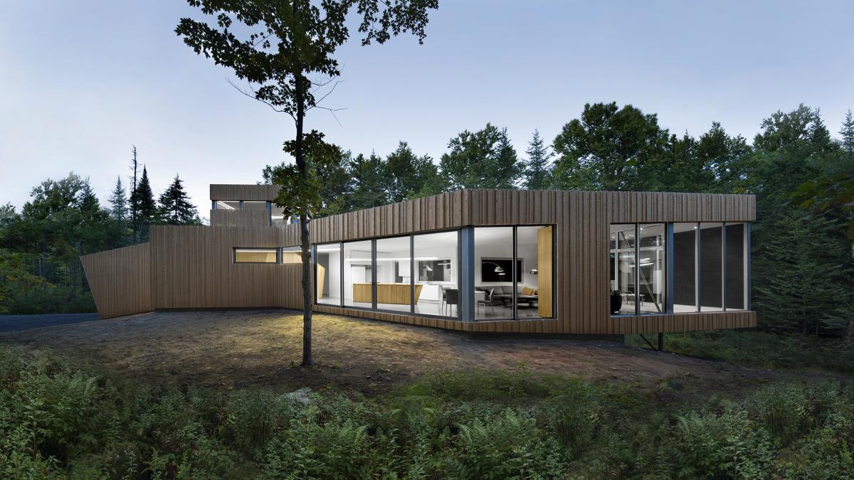 Paul Bernier Architecte. House On Lac Grenier, Lu0027Estérel, Quebec, ...