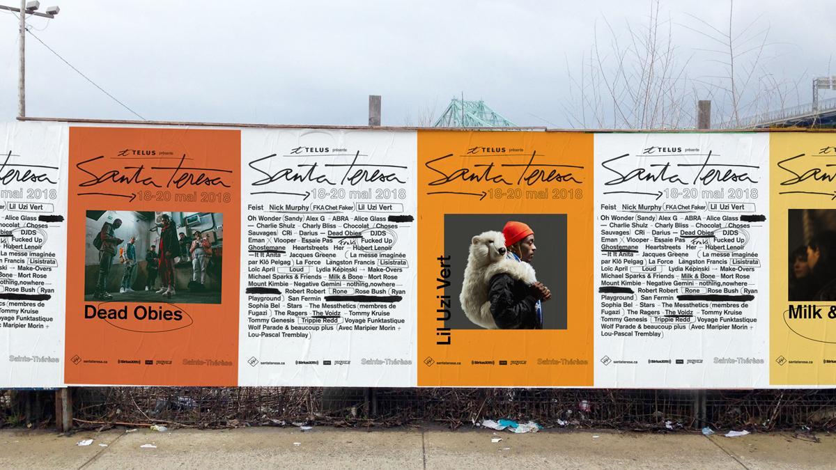 Festival Santa Teresa graphic identity, Montréal, 2018