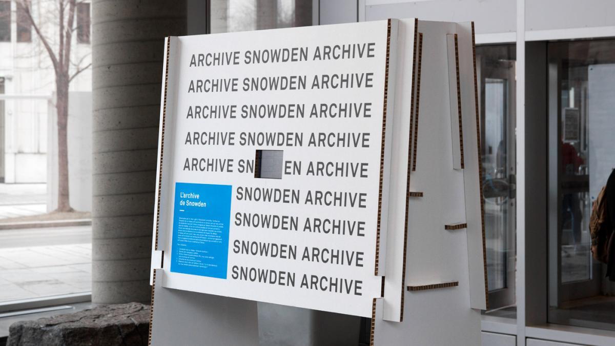 Exposition, Groupe de recherche sur l'information et la surveillance au quotidien, Montréal, 2018