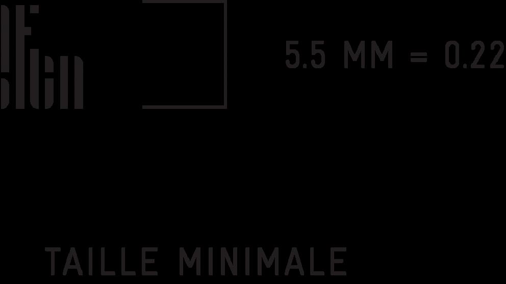 Taille minimale - empreinte Montréal ville UNESCO de design