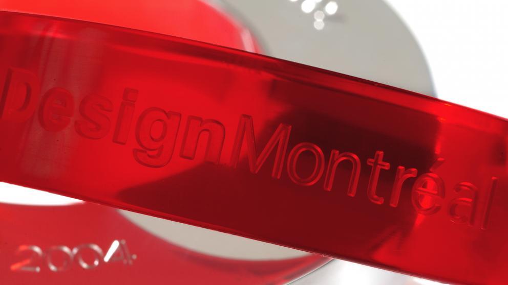 Conception du trophée Commerce Design Montréal :  Claude Mauffette, designer industriel