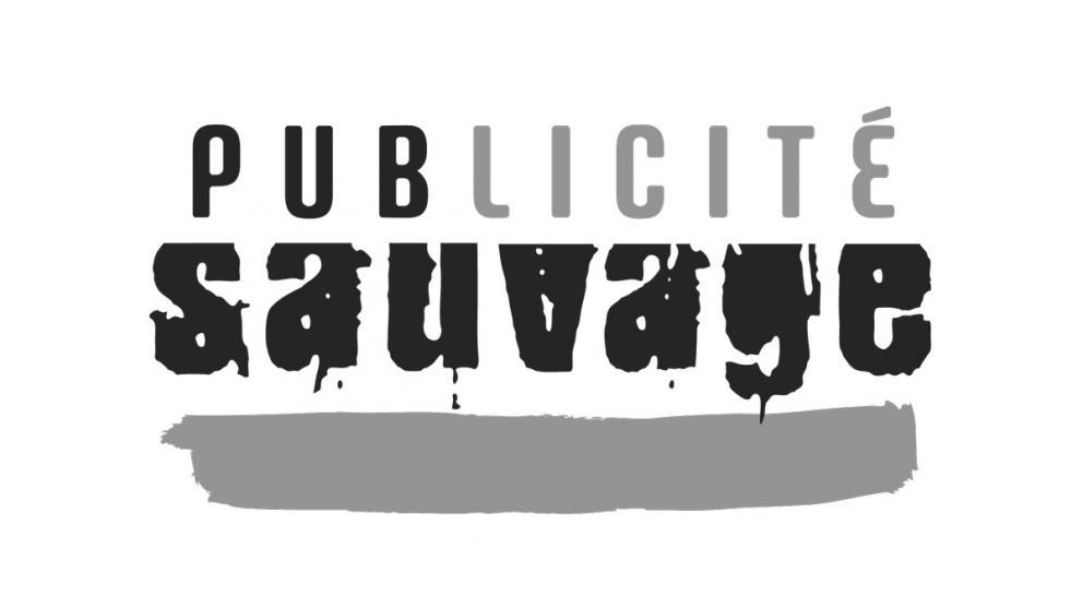 Logo publicité sauvage