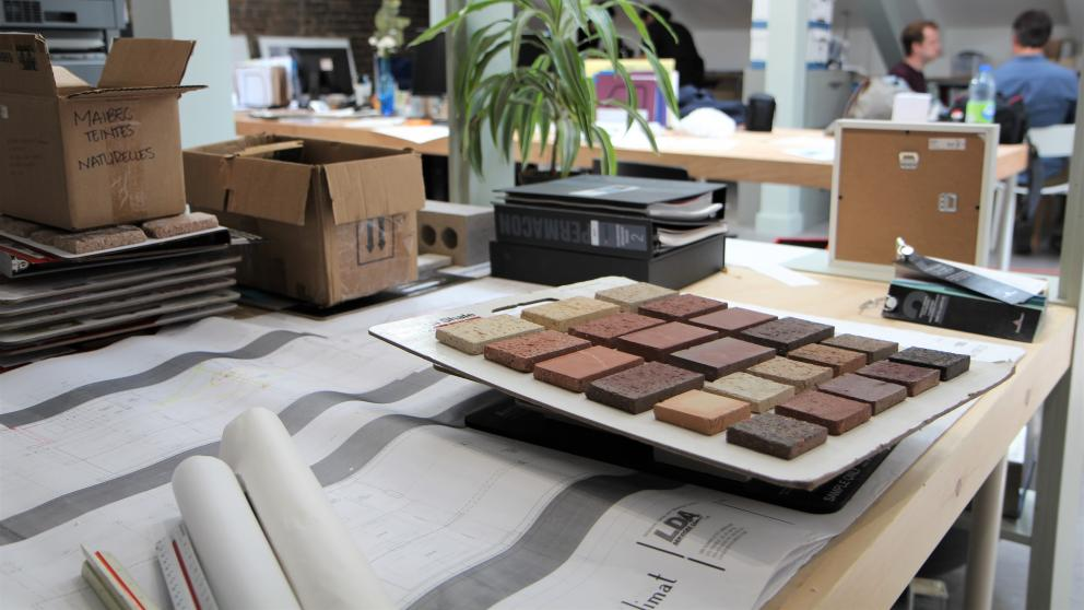 Work plans and samples at Architecture Microclimat