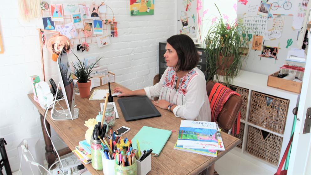 Marie-Laure Plano, designer graphique, Lili Graffiti