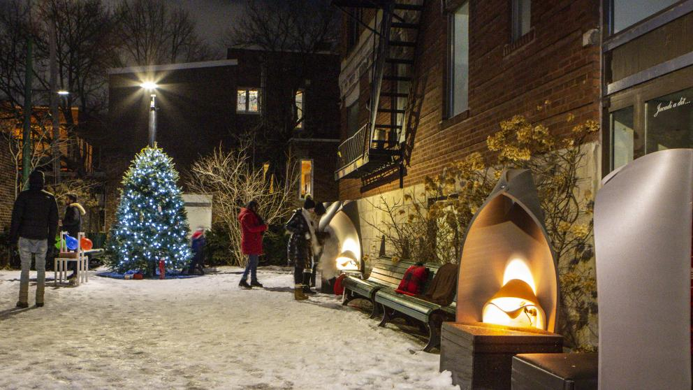 Station hivernale Outremont
