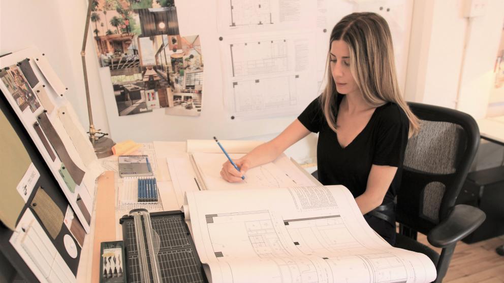 Pascale Viglas in her workshop