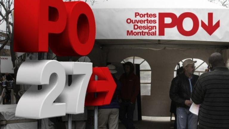 Concept d'identité visuelle pour les Portes Ouvertes Design Montréal