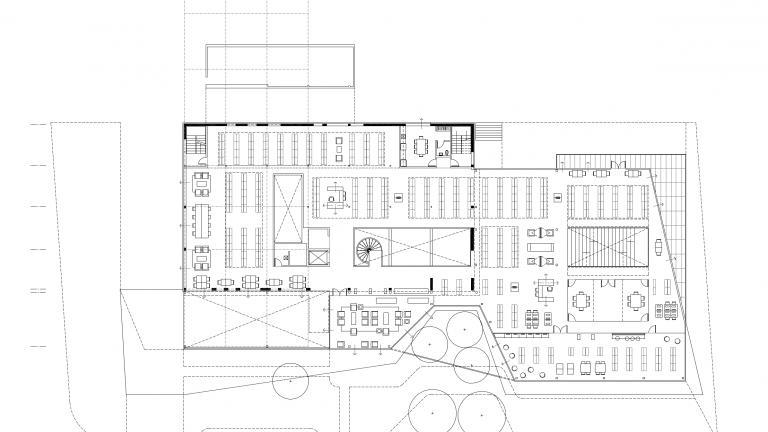 Plan de la bibliothèque Saul-Bellow